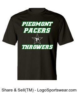 Official Piedmont Pacers Throwers Short-Sleeve Dri-Fit Tee Design Zoom