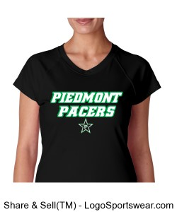 Ladies V-Neck Dri-Fit Shirt Design Zoom
